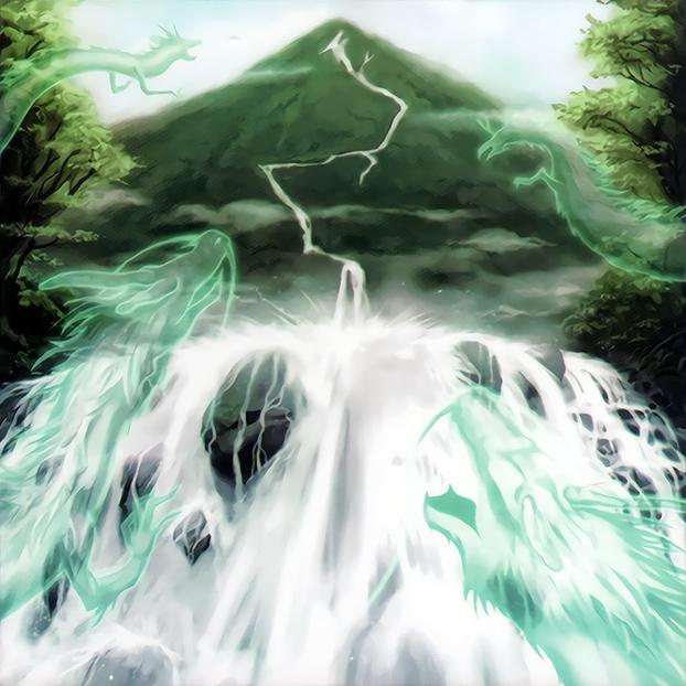 Waterfall of Dragon Souls by Freezadon