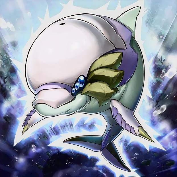 White Aura Dolphin by Freezadon