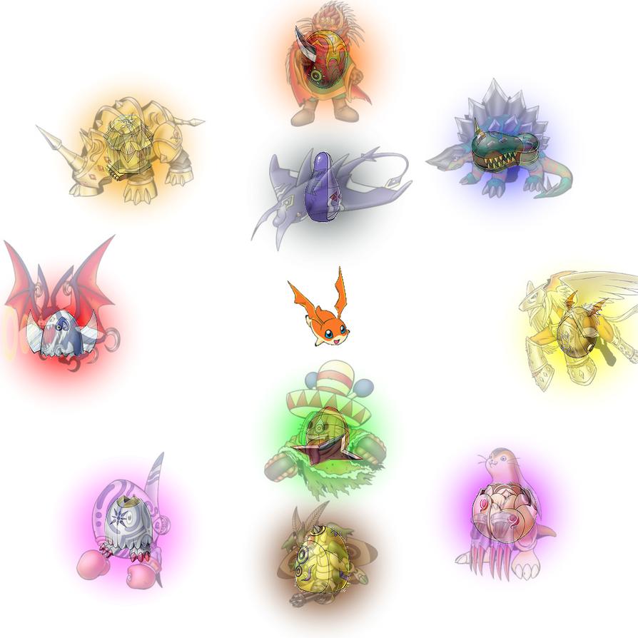 Patamon armor evolutions by KentaKitagawa on DeviantArt