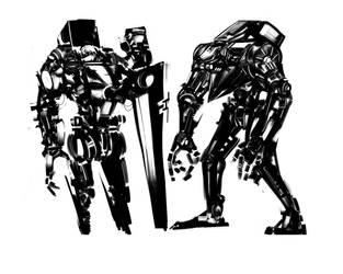 Robot concepts by Roboticdreams