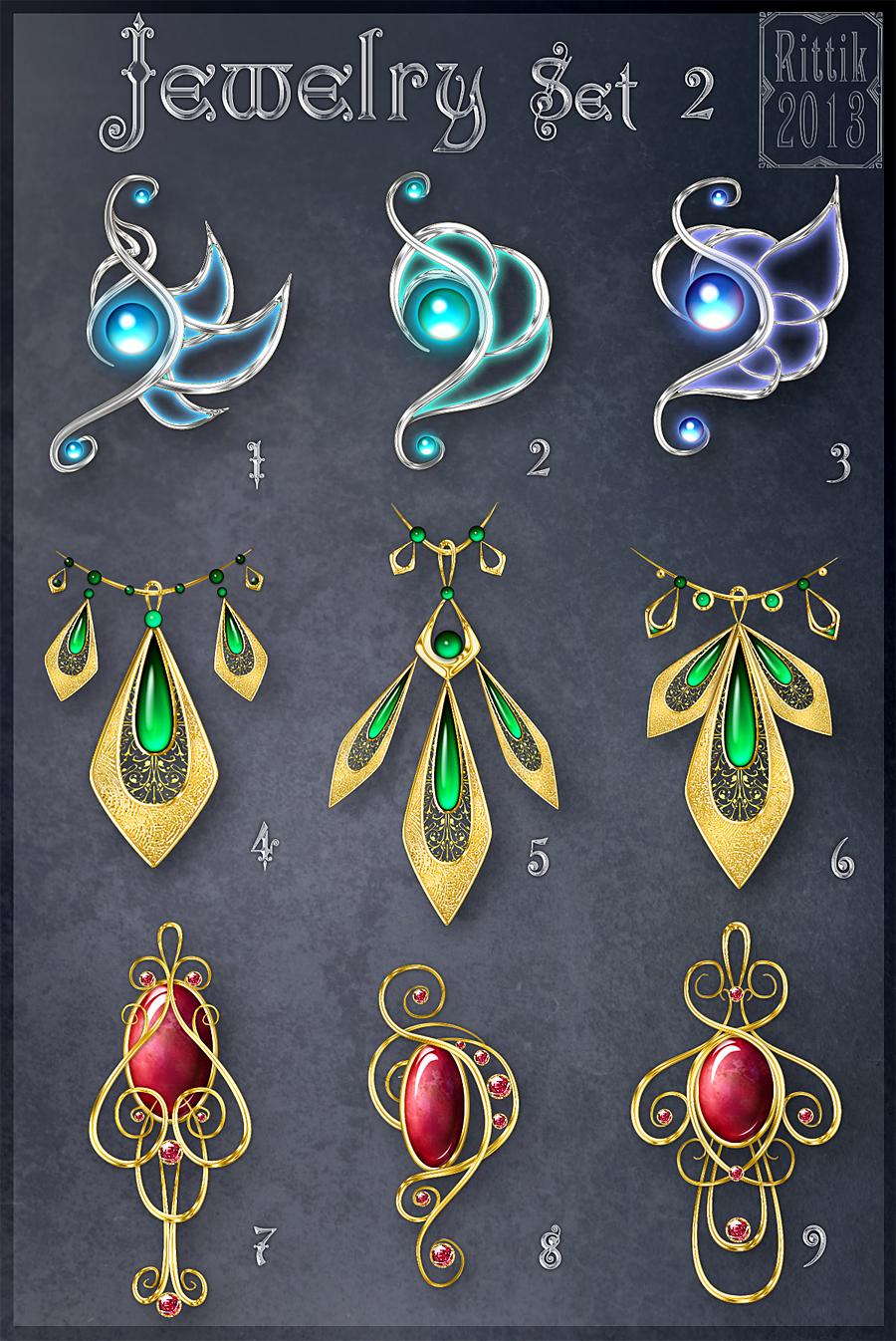 Jewelry Set 2 (CLOSED) by Rittik-Designs