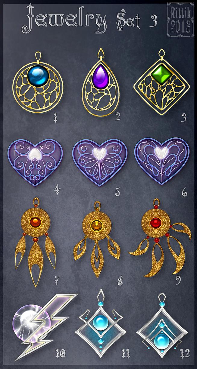 Jewelry Set 3 (CLOSED) by Rittik-Designs