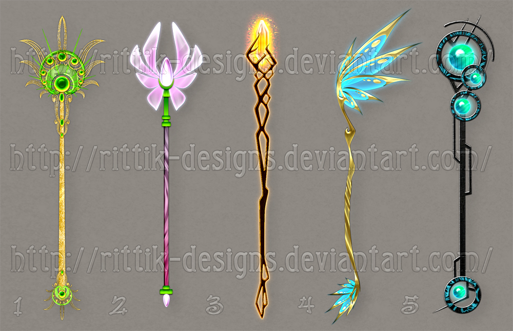 Staff designs 24 by Rittik-Designs