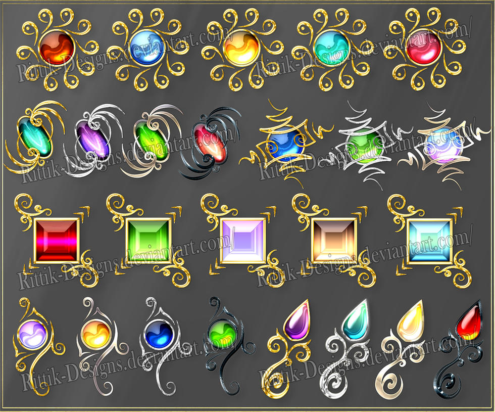Gems 6 (downloadable stock) by Rittik-Designs