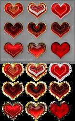 Hearts (free stock) by Rittik-Designs