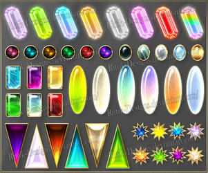 Gems 7 (downloadable stock) by Rittik-Designs