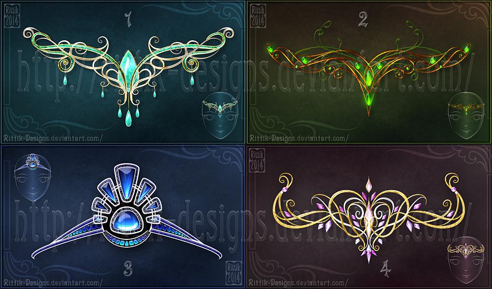 Magic Diadems Set 1 By Rittik Designs On Deviantart