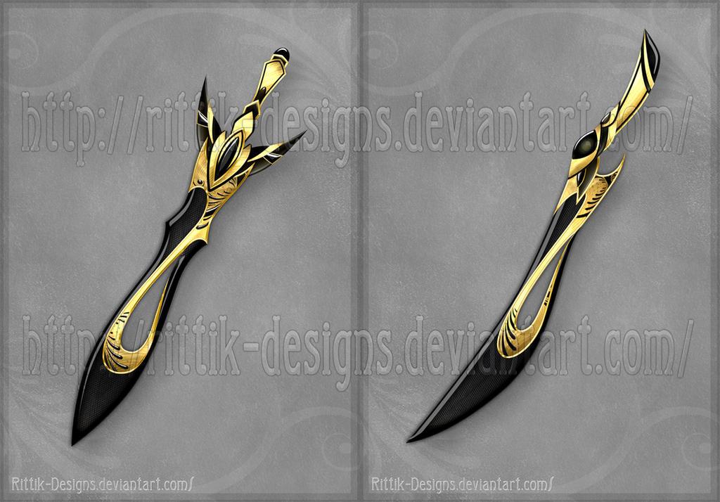 Black Blades (CLOSED) by Rittik-Designs on DeviantArt