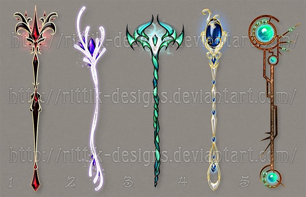 Staff designs 31 - Sale!!! by Rittik-Designs