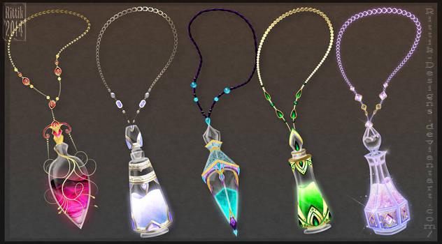 Elite potions commissions by Rittik-Designs
