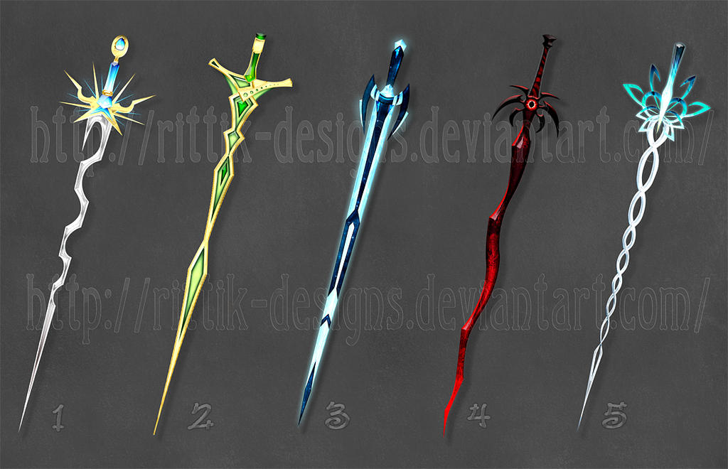 how to draw fantasy weapons