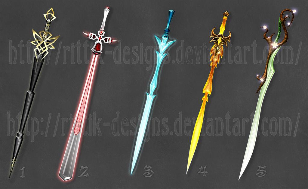 swords adopts 2 closed by rittikdesigns on deviantart