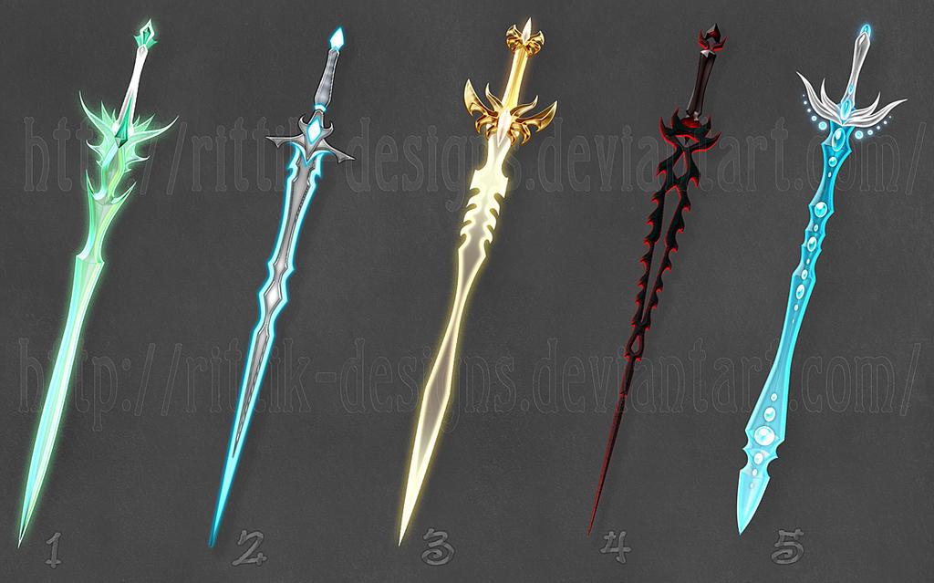 swords adopts 3 closed by rittikdesigns on deviantart