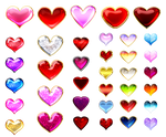 Heart gems (free stock)