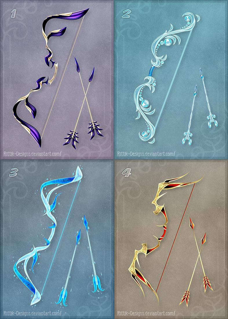 Magic bows set 5 by rittik designs designs interfaces game development