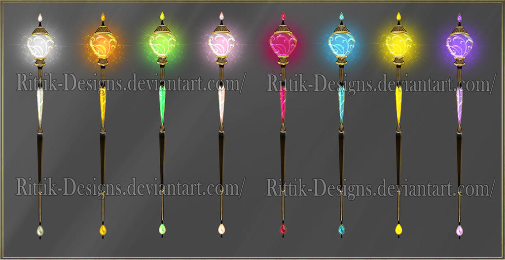 Magic Staffs (downloadable stock)