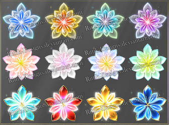 Magic Flowers (downloadable stock) by Rittik-Designs