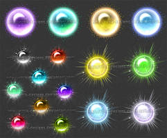Magic Orbs 1 (downloadable stock) by Rittik-Designs