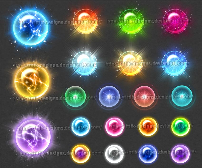 Magic Orbs 2 (downloadable stock)