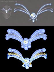 Moon diadem (free stock) by Rittik-Designs