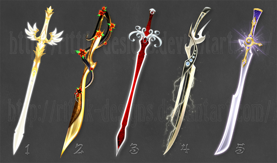 Swords adopts 8 (CLOSED) by Rittik-Designs on DeviantArt