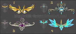 Diadems adopts 7 (CLOSED) by Rittik-Designs