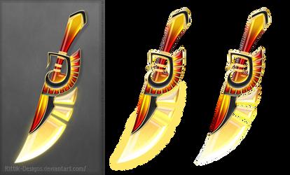 Fire dagger (free stock) by Rittik-Designs