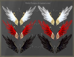 Wings 1 (downloadable stock) by Rittik-Designs