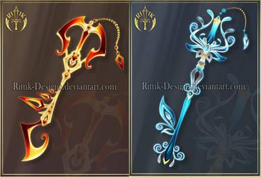 Keyblades adopts 1 (CLOSED) by Rittik-Designs