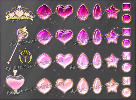 Colorful Gems - pink (downloadable stock)