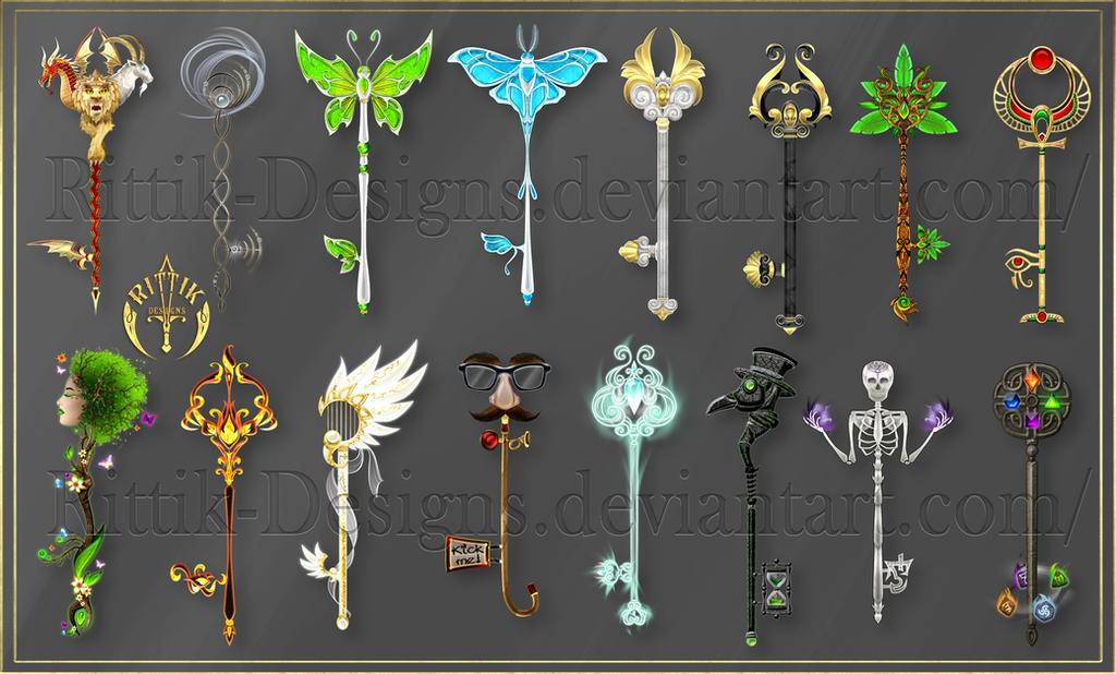 Keys For A Game Project Commission By Rittik Designs On