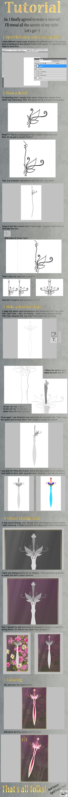 Tutorial - How to draw a sword by Rittik-Designs