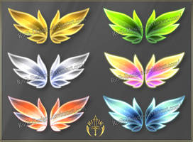 Bright wings 1 (downloadable stock) by Rittik-Designs