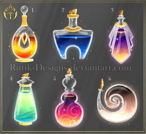 Potion set 1 (CLOSED) by Rittik-Designs