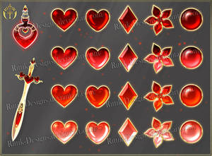 Colorful Gems - red (downloadable stock)