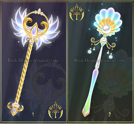 (CLOSED) Scepters adopts 4 by Rittik-Designs