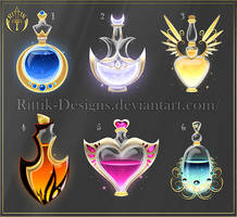 (CLOSED) Potion set 7 by Rittik-Designs