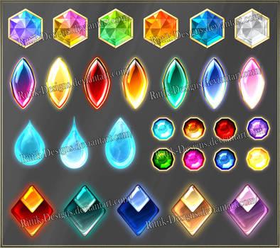 Gems 9 (downloadable stock) by Rittik-Designs