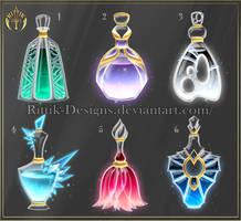 (CLOSED) Potion set 11 by Rittik-Designs