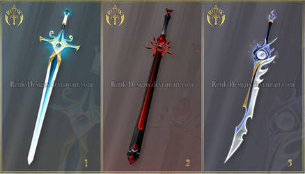 (CLOSED) Swords adopts 44 by Rittik-Designs