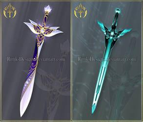 (OPEN) Swords adopts 46 - Auction by Rittik-Designs