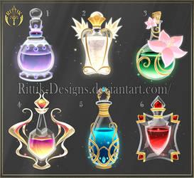 (CLOSED) Potion set 12 by Rittik-Designs