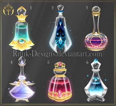 (CLOSED) Potion set 13 by Rittik-Designs