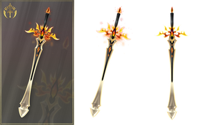 Flaming sword (free stock)