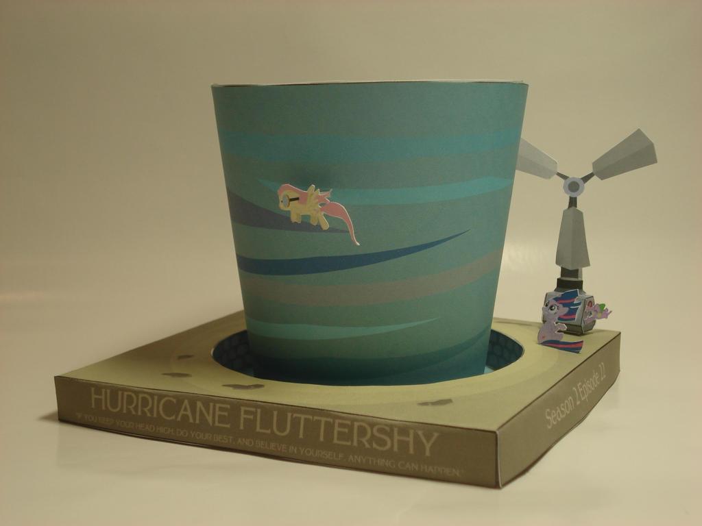 Hurricane Fluttershy Papercraft Vignette v.2 by RocketmanTan
