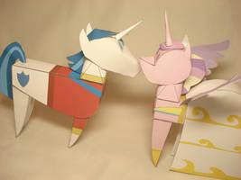 Shining Armor + Cadence doll papercrafts by RocketmanTan
