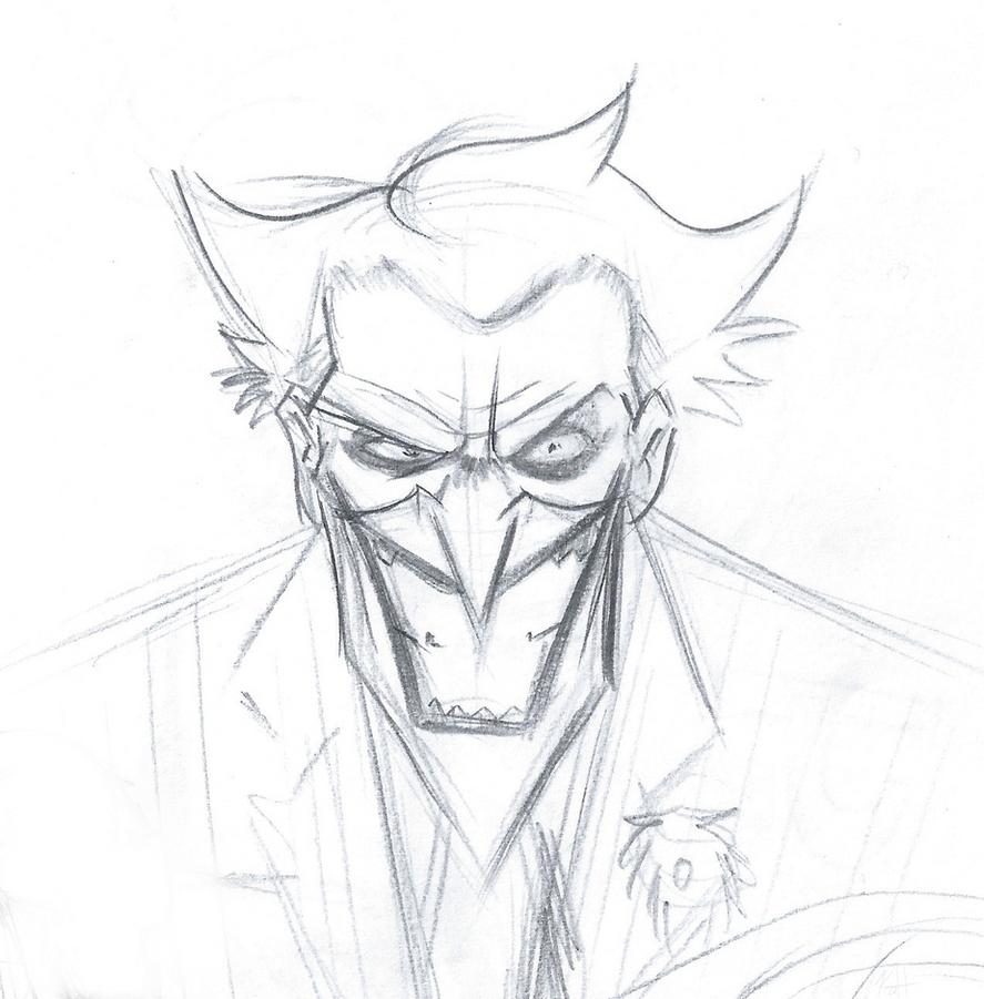 Joker Scribble Drawing : Joker face by jobbythehong on deviantart