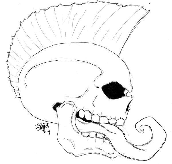 Skull Mohawk by Haze510 on DeviantArt