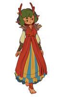 Orvokki's autumn dress by Osato-kun