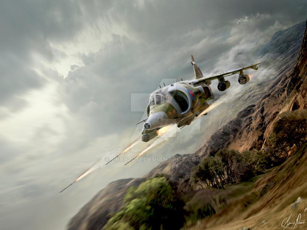Artwork BAE Harrier GR-3 - XV744 by LPBS2012